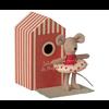 Maileg Beach Mice- Little Sister in Cabin de Plage