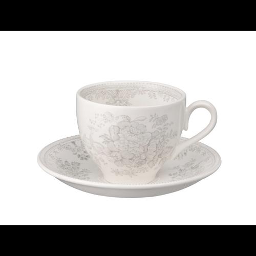 Burleigh Pottery Dove Grey Asiatic Pheasant Teacup & Saucer