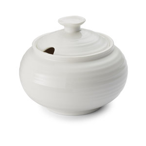 Portmeirion Sophie Conran White Covered Sugar Pot