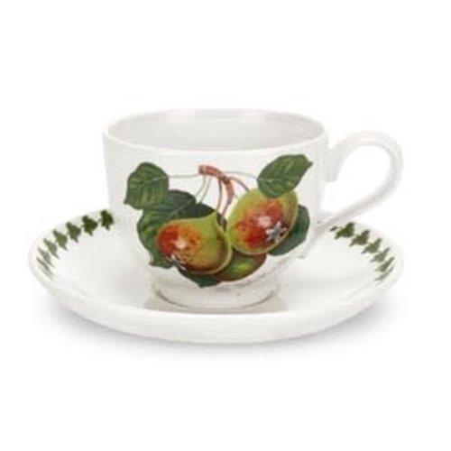 Portmeirion Portmeirion Pomona Teacup w Saucer - The Teinton Squash Pear