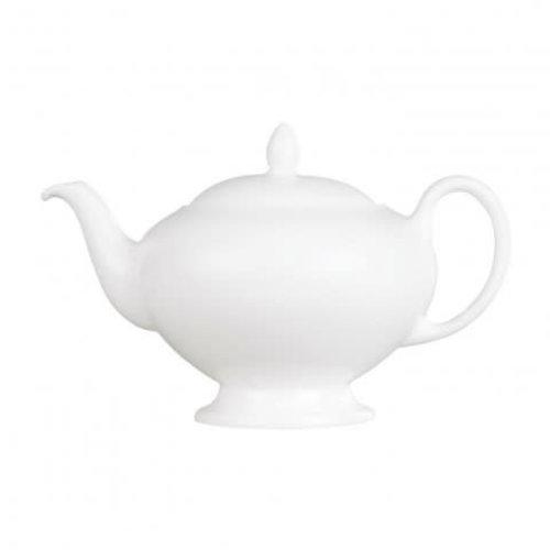 Wedgwood Leigh White China Teapot