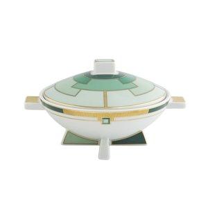 Vista Alegre Sugar Bowl Emerald