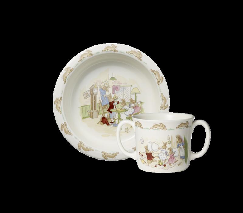 Bunnykins 2-Piece Baby Set (Bowl & Two Handled Mug)
