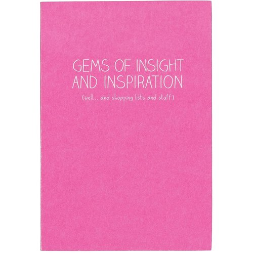 """Happy Jackson Small Notebook - """"Gems of Insight and Inspiration"""""""