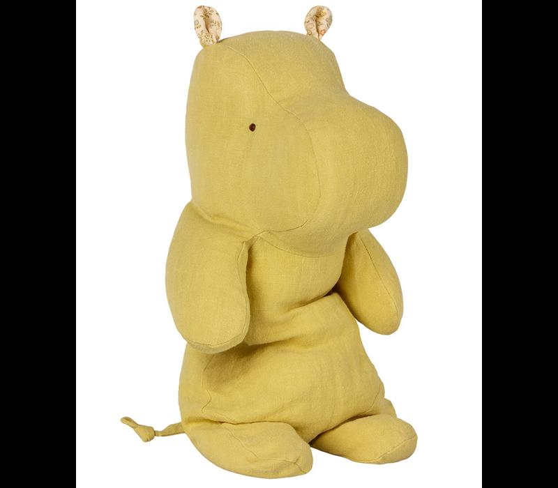 Medium Hippo - Lime Yellow