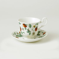 Alpine Strawberry Teacup and Saucer