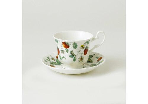 Alpine Strawberry Espresso Cup & Saucer