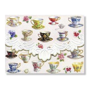 Carol's Rose Garden - Teacups  10 Notecards