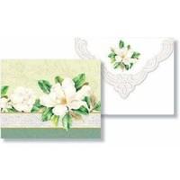 White Magnolia Portfolio of 10 Notecards
