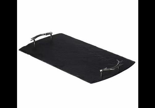 Slate Large Serving Tray, Antler Handles