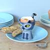 Hannah Turner Egg Cup Cat Grey Tabby
