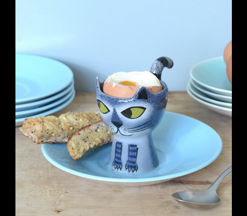 Egg Cup Cat Grey Tabby
