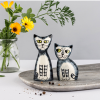 Salt and Pepper Shakers Grey Tabby Cat