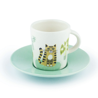 Cat Espresso Cup and Saucer