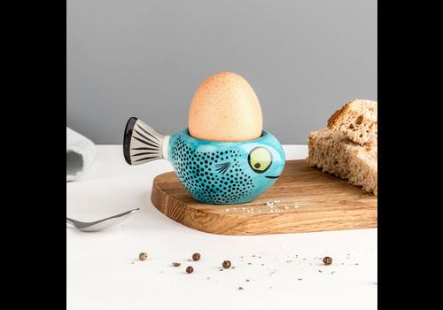 Hannah Turner Egg Cup Fish Blue