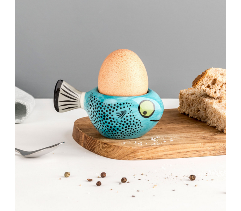 Egg Cup Fish Blue