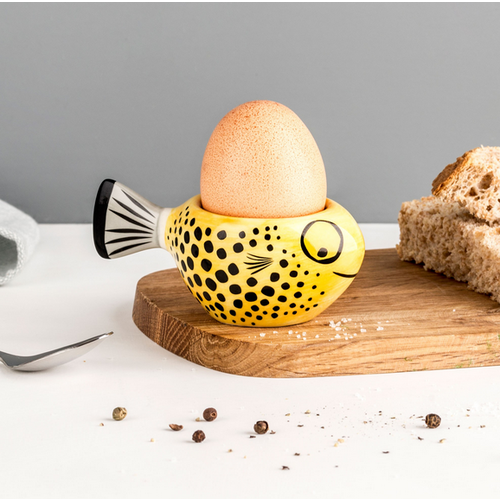Hannah Turner Egg Cup Fish Yellow