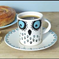 Espresso Cup Owl