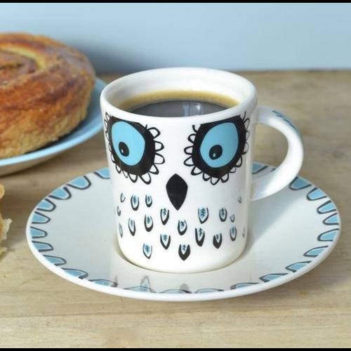 Hannah Turner Espresso Cup Owl