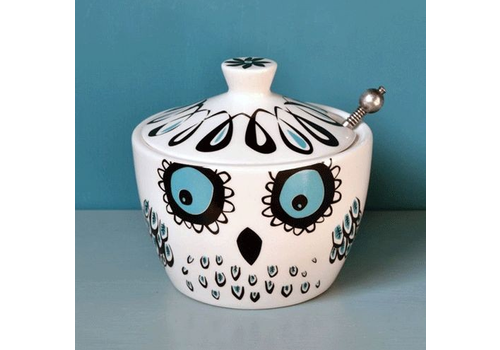 Hannah Turner Owl Small Pot with Lid