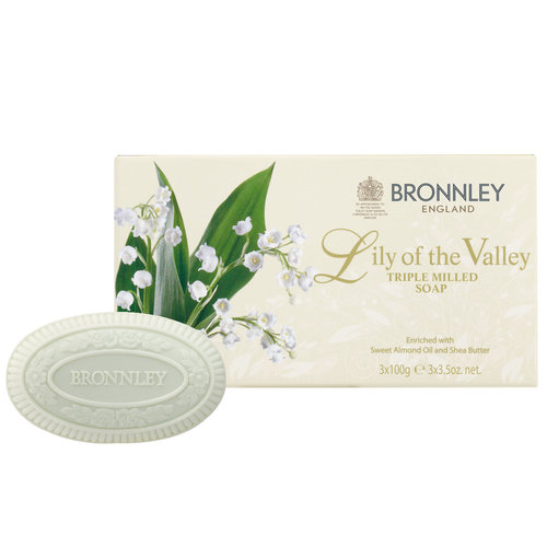 Bronnley Lily of the Valley Triple-Milled Soap Set of 3