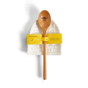 Bee Skep Beehive Spoon Rest and Spoon