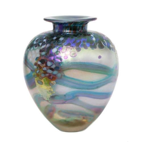 Jonathan Harris Jonathan Harris Monet Glass Vase - Opal