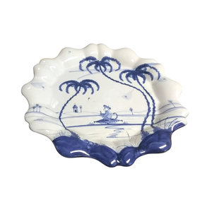 Isis Ceramics Isis Blue Playful Monkeys - Fife - Fluted Dish