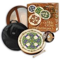 "15"" Celtic Cross Bodhran Pack with DVD"