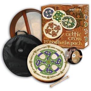 "Walton's 15"" Celtic Cross Bodhran Pack with DVD"