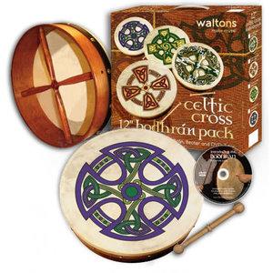 "Waltons Fanore Cross Bodhran Pack - 12"""