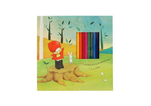 Santoro London Poppi Loves Notebook & Colouring Pencils