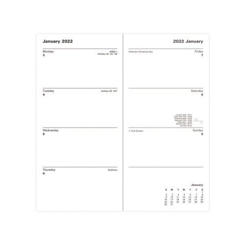 Letts of London 2022 Classic Slim Portrait Week to View Burgundy Planner
