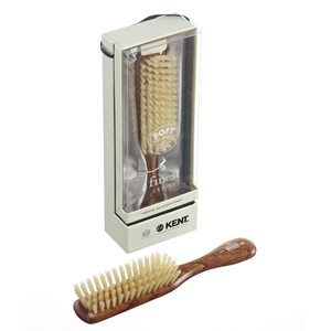 Kent Narrow Soft White Bristle Brush