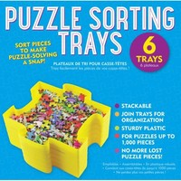 Set of 6 Puzzle Sorting Trays
