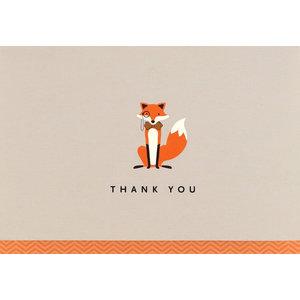 Dapper Fox Thank You Notecards