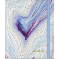 Blue Agate Large Address Book