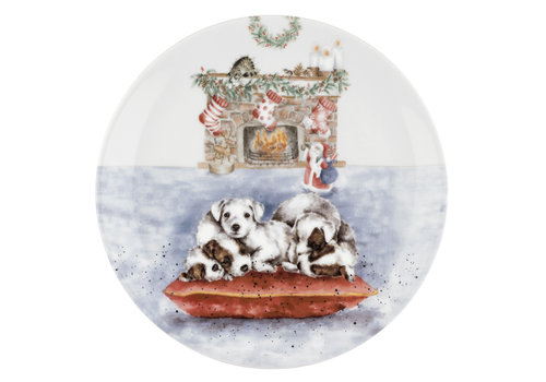 Wrendale Puppies Christmas Eve Coupe Plate