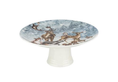 Wrendale Winter Wonderland Footed Cake Plate