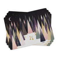Sara Miller Frosted Pines Placemats Set of 4