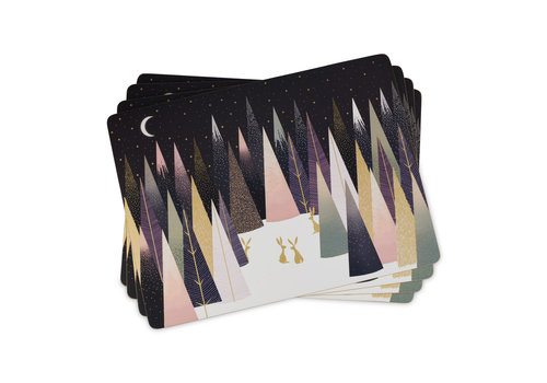 Pimpernel Sara Miller Frosted Pines Placemats Set of 4