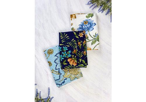 April Cornell Winter Provence Patchwork 3 Tea Towel Bundle