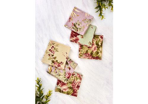 April Cornell Cottage Core Patchwork 6 Tiny Tea Towel Bundle