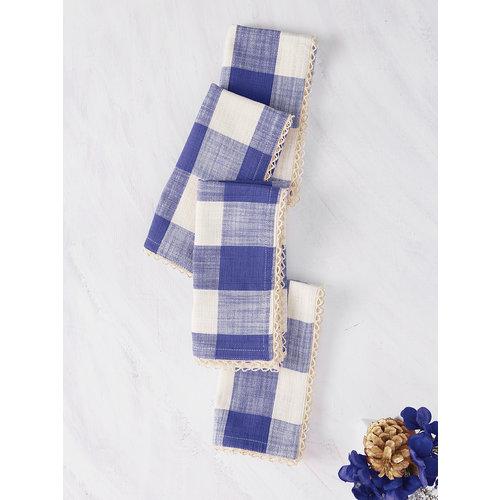 April Cornell Cottage Check Cloth Napkins