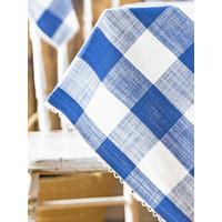 Blue Cottage Check Rectangular Tablecloth