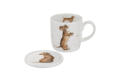 Wrendale Wrendale Hello Sausage Mug Coaster Set