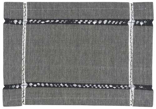 Now Designs Knotted Black Cloth Placemat
