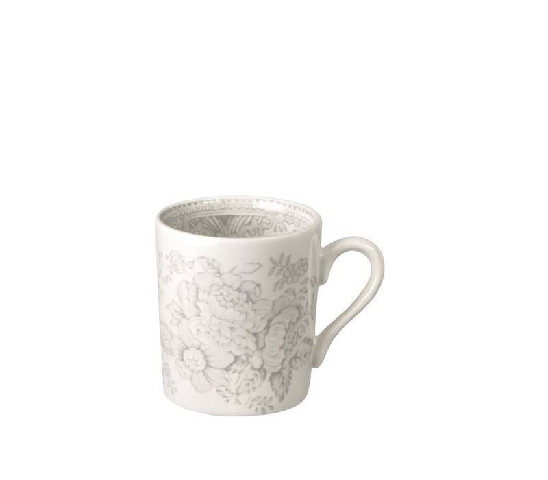 Dove Grey  Asiatic Pheasant Espresso Cup & Saucer