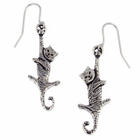 Dangling Cat Drop Earrings