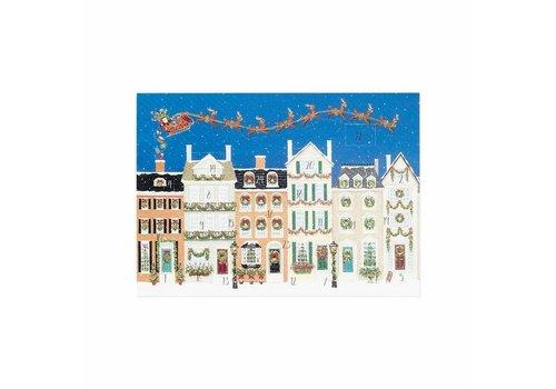 Caspari Santa Delivering Gifts Advent Calendar